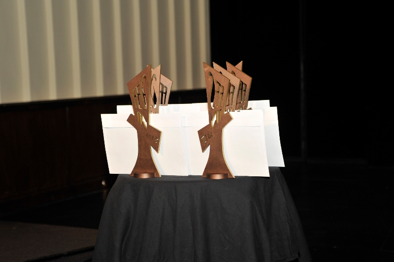 Troféus desenhados por Marcos Marin