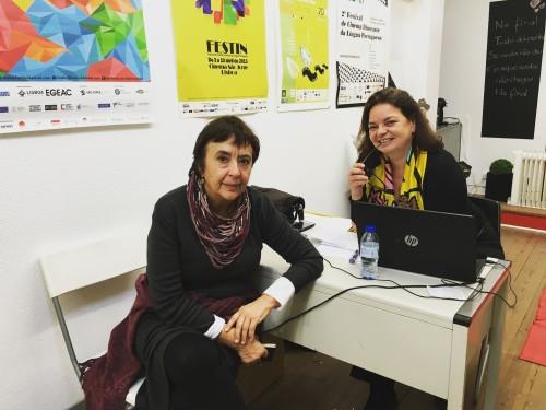 Visita de Margarida Gil à sede do FESTin